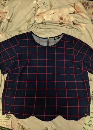 Футболка блузка в клетку g21