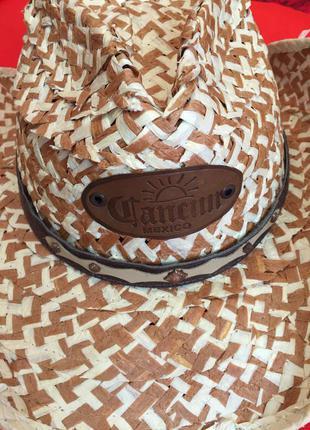 Шляпка mexicana оригинал cancun плотная стильная