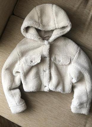 Короткая плюшевая куртка тэдди