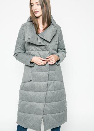 Пальто пуховик одеяло эксклюзив зефирка серое тренд 2017 зима зимнее теплющее длинное миди