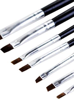 Набор кистей для геля, гель-лака и дизайна ногтей   7 шт.
