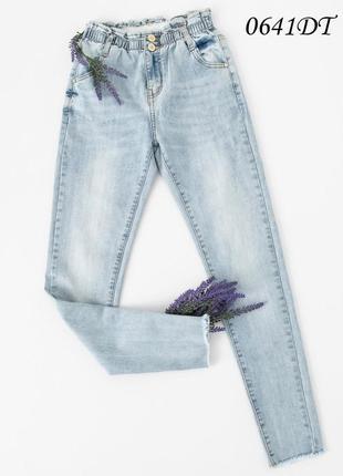 Джинсы женские стрейчевые на резинке