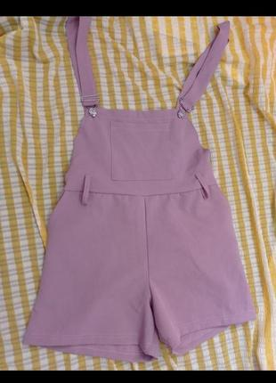 Ромпер шорты комбинезон розовый