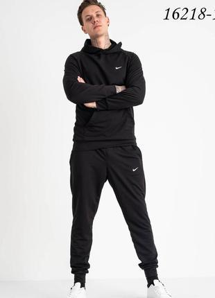 Спортивный костюм черный из двунитки