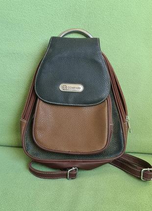 Рюкзачок compass в стиле винтаж. коричневого и зелёного цвета