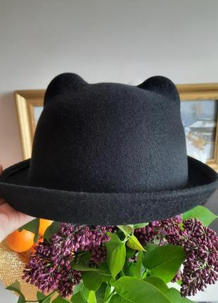 Фетровая шляпа 100% шерсть