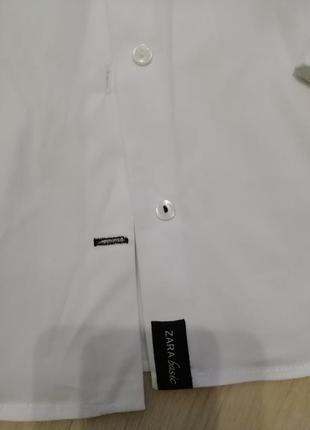 Базовая белоснежная рубашка на пуговицах zara2 фото