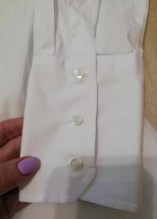 Базовая белоснежная рубашка на пуговицах zara3 фото