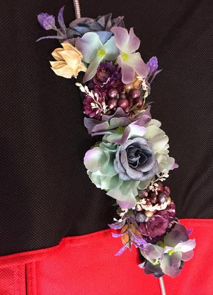 Пояс цветочный яркий дизайнерский украшение стильное