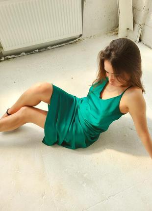 Платье миди комбинация в бельевом стиле
