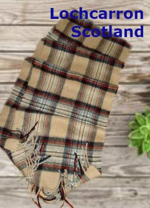 💨❄lochcarron of scotland 100% кашемир шикарный шарф в клетку мужской  💨❄2 фото