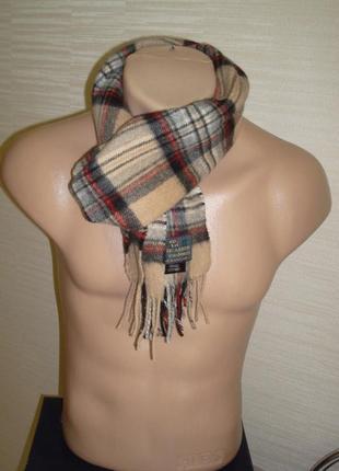 💨❄lochcarron of scotland 100% кашемир шикарный шарф в клетку мужской  💨❄4 фото