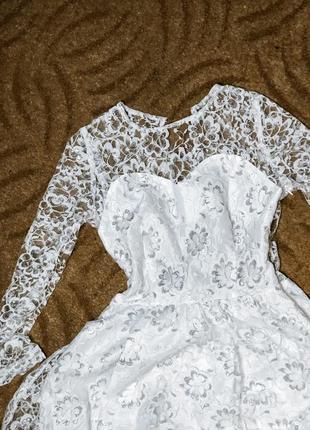 Выпускное платье , свадебное ( миди)