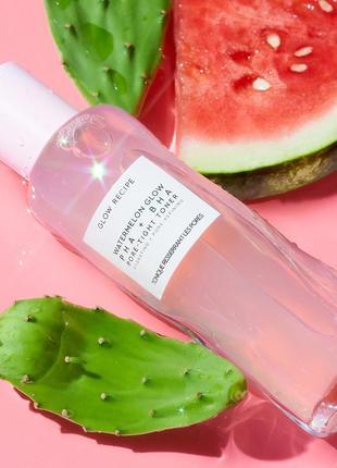 Кислотный тоник glow recipe watermelon glow pha + bha pore-tight toner 40 мл