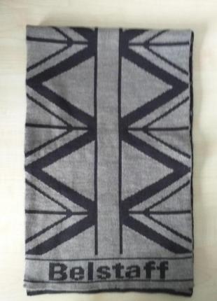 Belstaff   двухсторонний шерстяной шарф4 фото
