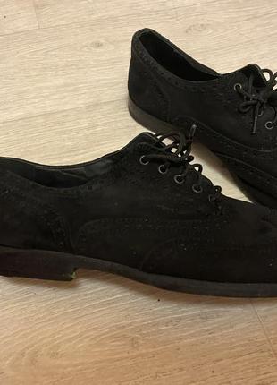 Мокасины замшевые туфли мужские чёрные vero cucio