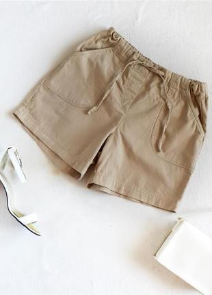 Песочные шорты на высокой посадке с карманами george