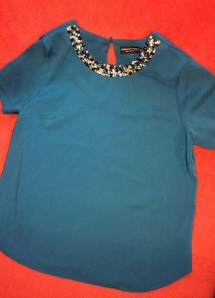 Блуза,майка с камнями,лёгкая футболка,топ