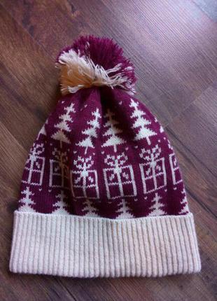 Новая зимняя вязаная шапка