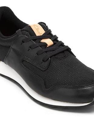 Clarks женские стильные кожаные кроссовки р. 37.5 оригинал
