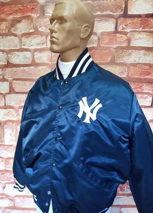 Куртка коллекционная delong официальная nbl new york yankees винтажная