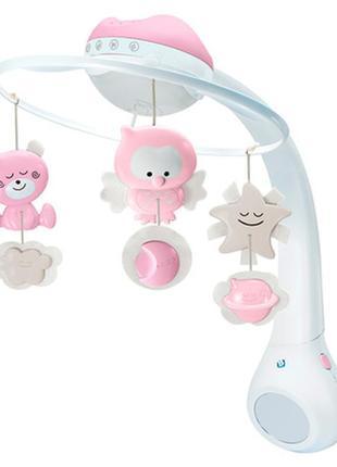 Музыкальный мобиль infantino 3 в 1 с проектором розовый