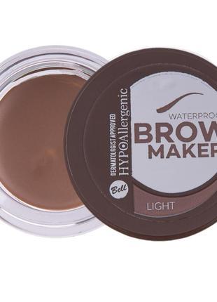 №01 тіні для брів brow maker hypo allergenic 4.8г bell
