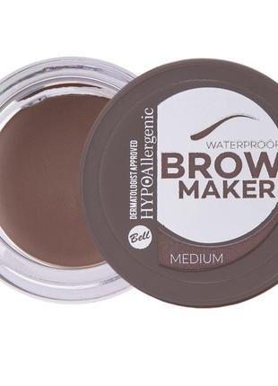 №02 тіні для брів brow maker hypo allergenic 4.8г bell