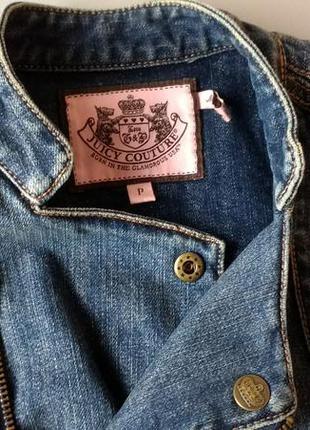 Джинсовый пиджак косуха juicy couture xs