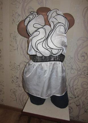 Нарядная атласная блуза 44 c