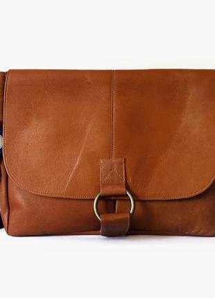 Кожаная мужская сумка david king boston для ноутбука и документов