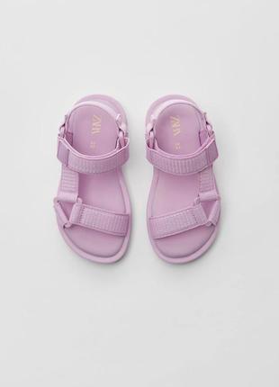 Босоножки сандали трекеры zara💖2 фото