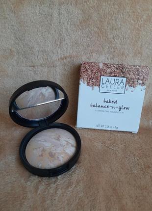 Laura geller италия запеченая пудра бронзер хайлайтер тональная основа для лица