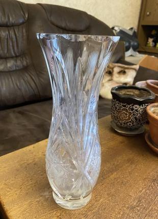 Высокая хрустальная ваза ссср