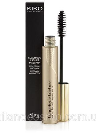 Тушь для ресниц kiko milano luxurious lashes maxi brush mascara