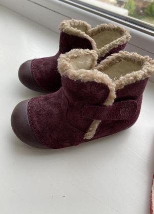 Ботинки на шерсти