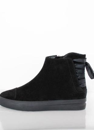 Замшевые теплые ботинки зимние, осенние полуботинки на меху smart р.36-40