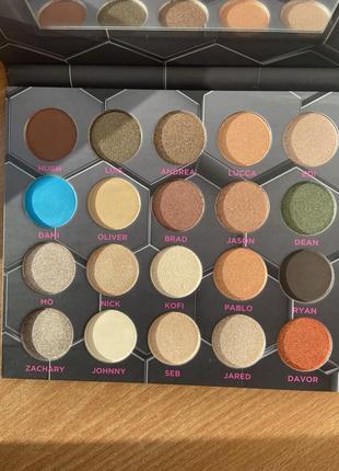 Beebeauty london barbarella eyeshadow palette палетка теней 20 оттенков