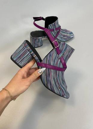 Стильные кожаные замшевые босоножки летние сапоги bond размеры 35-41