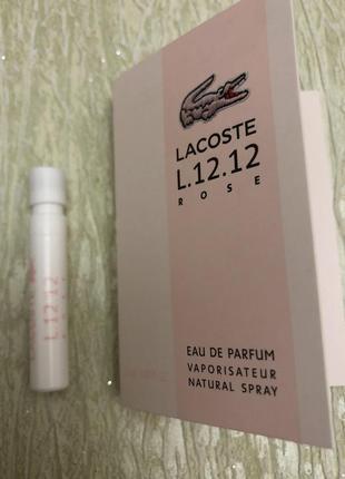 Пробник lacoste eau de lacoste l.12.12 rose оригинал 1,2 мл