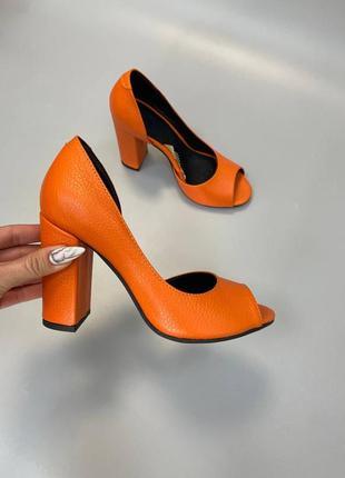 Эксклюзивные туфли женские натуральная итальянская кожа и замша люкс