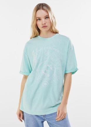Футболка, футболка с принтом, футболка свободная, длинная футболка