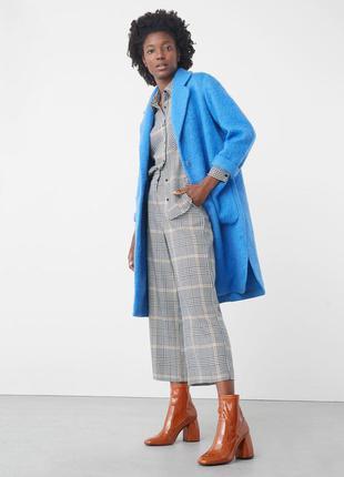 Яркое шикарное пальто от mango! шерсть. размеры.модель 2017-2018