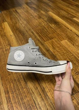 Converse chuck taylor all star madison mid women's shoes wolf grey/white