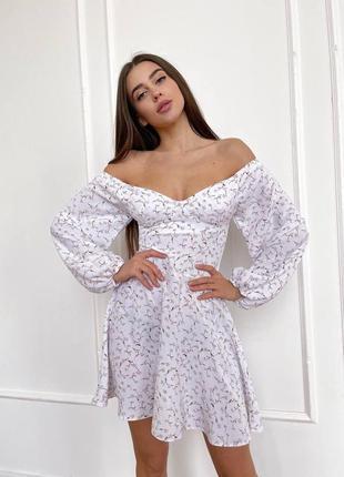 Платье женское нарядное белое