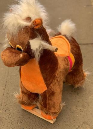 Лошадка качалка коричневая