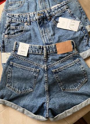 Джинсові шорти mom fit zara 32,36,38 в наявності6 фото