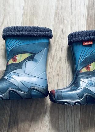 Резиновые сапоги с носком в идеальном состоянии.