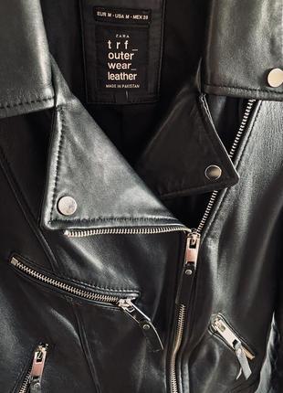 Кожаная куртка косуха zara4 фото