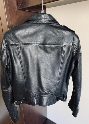 Кожаная куртка косуха zara3 фото